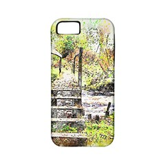 River Bridge Art Abstract Nature Apple Iphone 5 Classic Hardshell Case (pc+silicone)