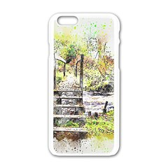 River Bridge Art Abstract Nature Apple Iphone 6/6s White Enamel Case