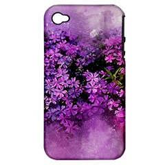 Flowers Spring Art Abstract Nature Apple Iphone 4/4s Hardshell Case (pc+silicone)