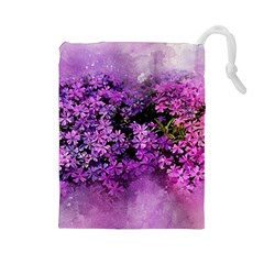 Flowers Spring Art Abstract Nature Drawstring Pouches (large)