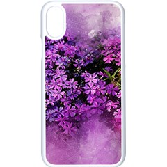 Flowers Spring Art Abstract Nature Apple Iphone X Seamless Case (white)