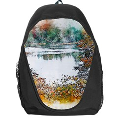 River Water Art Abstract Stones Backpack Bag