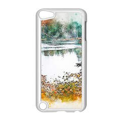 River Water Art Abstract Stones Apple Ipod Touch 5 Case (white)