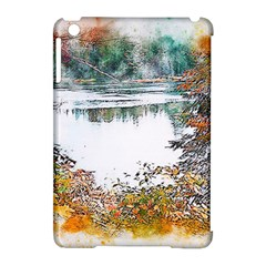River Water Art Abstract Stones Apple Ipad Mini Hardshell Case (compatible With Smart Cover)
