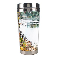 River Water Art Abstract Stones Stainless Steel Travel Tumblers