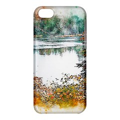 River Water Art Abstract Stones Apple Iphone 5c Hardshell Case