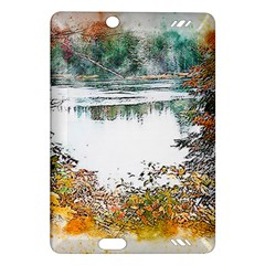 River Water Art Abstract Stones Amazon Kindle Fire Hd (2013) Hardshell Case