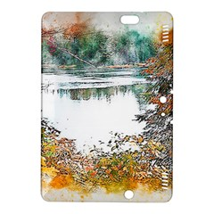 River Water Art Abstract Stones Kindle Fire Hdx 8 9  Hardshell Case