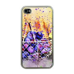 Fruit Plums Art Abstract Nature Apple Iphone 4 Case (clear)