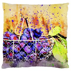 Fruit Plums Art Abstract Nature Large Cushion Case (two Sides)