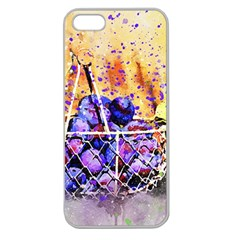Fruit Plums Art Abstract Nature Apple Seamless Iphone 5 Case (clear)