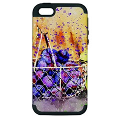 Fruit Plums Art Abstract Nature Apple Iphone 5 Hardshell Case (pc+silicone)