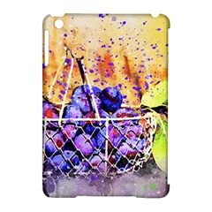 Fruit Plums Art Abstract Nature Apple Ipad Mini Hardshell Case (compatible With Smart Cover)