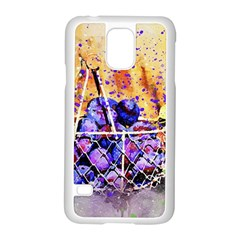 Fruit Plums Art Abstract Nature Samsung Galaxy S5 Case (white)