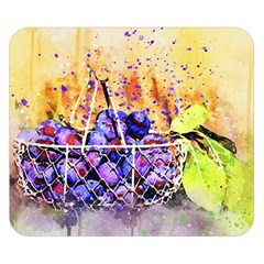 Fruit Plums Art Abstract Nature Double Sided Flano Blanket (small)