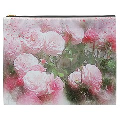 Flowers Roses Art Abstract Nature Cosmetic Bag (xxxl)
