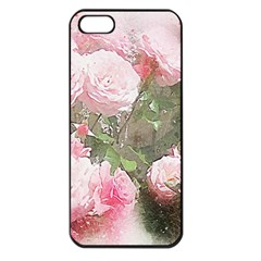 Flowers Roses Art Abstract Nature Apple Iphone 5 Seamless Case (black)