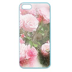Flowers Roses Art Abstract Nature Apple Seamless Iphone 5 Case (color)