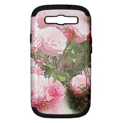Flowers Roses Art Abstract Nature Samsung Galaxy S Iii Hardshell Case (pc+silicone)