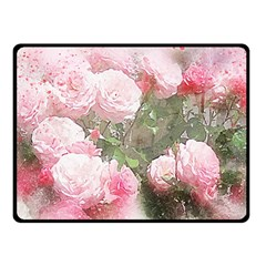 Flowers Roses Art Abstract Nature Double Sided Fleece Blanket (small)