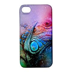 Lizard Reptile Art Abstract Animal Apple Iphone 4/4s Hardshell Case With Stand