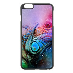 Lizard Reptile Art Abstract Animal Apple Iphone 6 Plus/6s Plus Black Enamel Case