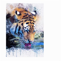 Tiger Drink Animal Art Abstract Large Garden Flag (two Sides)