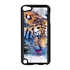 Tiger Drink Animal Art Abstract Apple Ipod Touch 5 Case (black)