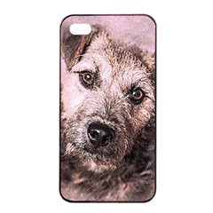Dog Pet Terrier Art Abstract Apple Iphone 4/4s Seamless Case (black)