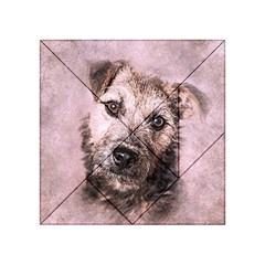 Dog Pet Terrier Art Abstract Acrylic Tangram Puzzle (4  X 4 )
