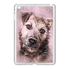 Dog Pet Terrier Art Abstract Apple Ipad Mini Case (white)