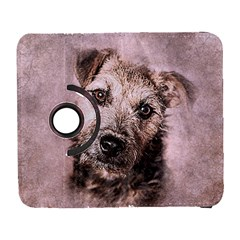 Dog Pet Terrier Art Abstract Galaxy S3 (flip/folio)