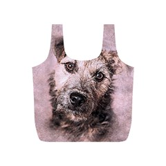 Dog Pet Terrier Art Abstract Full Print Recycle Bags (s)