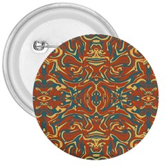 Multicolored Abstract Ornate Pattern 3  Buttons