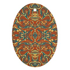 Multicolored Abstract Ornate Pattern Ornament (oval)