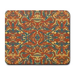 Multicolored Abstract Ornate Pattern Large Mousepads