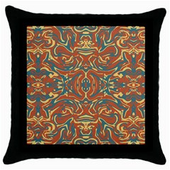 Multicolored Abstract Ornate Pattern Throw Pillow Case (black)