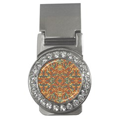 Multicolored Abstract Ornate Pattern Money Clips (cz)