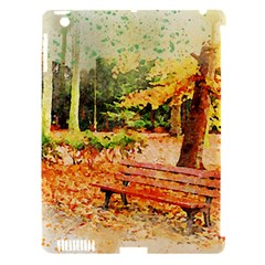 Tree Park Bench Art Abstract Apple Ipad 3/4 Hardshell Case (compatible With Smart Cover)
