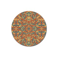 Multicolored Abstract Ornate Pattern Magnet 3  (round)