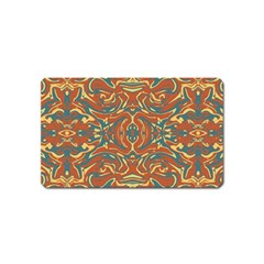 Multicolored Abstract Ornate Pattern Magnet (name Card)