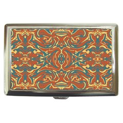 Multicolored Abstract Ornate Pattern Cigarette Money Cases