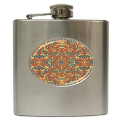 Multicolored Abstract Ornate Pattern Hip Flask (6 Oz)