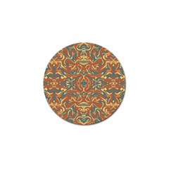 Multicolored Abstract Ornate Pattern Golf Ball Marker