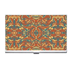 Multicolored Abstract Ornate Pattern Business Card Holders