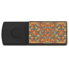 Multicolored Abstract Ornate Pattern Rectangular Usb Flash Drive