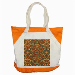 Multicolored Abstract Ornate Pattern Accent Tote Bag