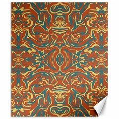 Multicolored Abstract Ornate Pattern Canvas 8  X 10
