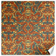 Multicolored Abstract Ornate Pattern Canvas 16  X 16