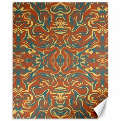 Multicolored Abstract Ornate Pattern Canvas 16  X 20